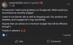 google ads monthly budget