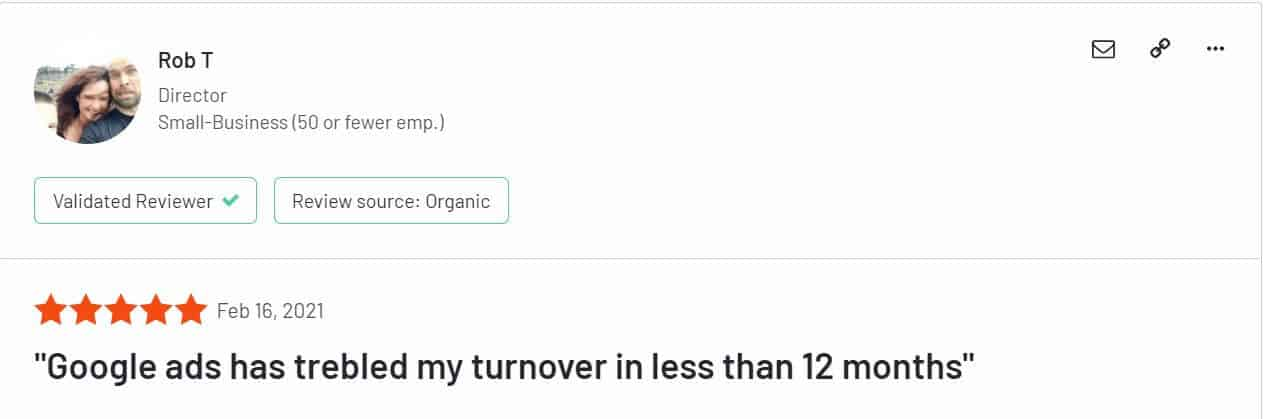 google ads review product turnover